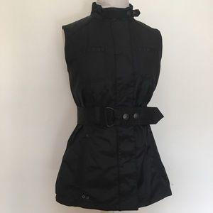 Converse One Star Black Polyester Zip/Button Vest